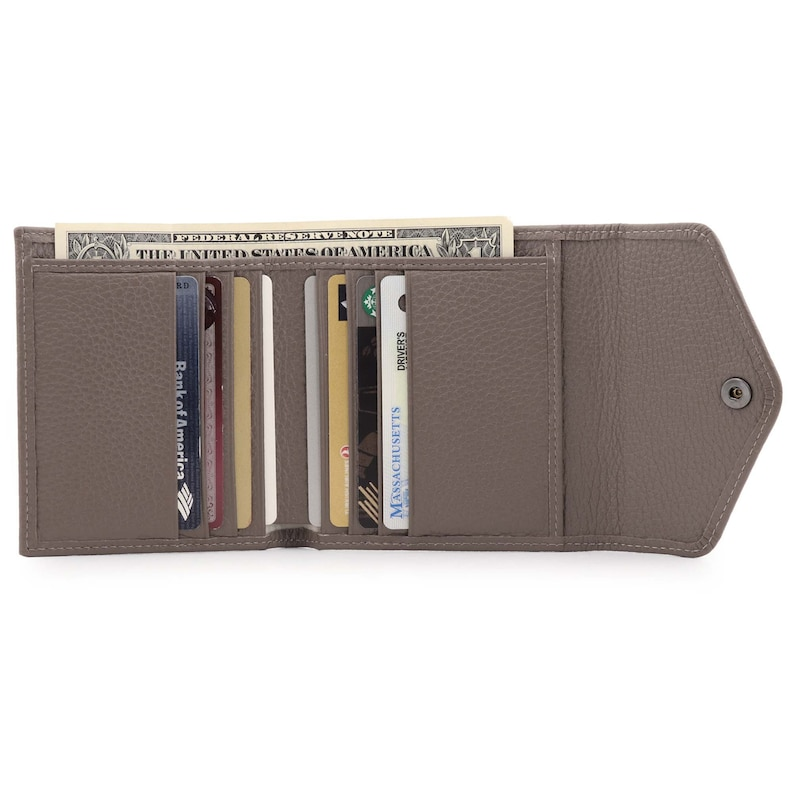 Slim Unisex Clutch Wallet Designed To Be Practical Hand Crafted Top Grain Leather Envelope Wallet RFID Blocking Trifold Credit Card Wallet