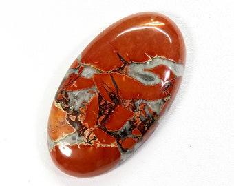 Oval Shape Jasper Cabochon Loose Gemstone Natural Maligano Jasper Gemstone 37x19x5MM For Making Pendant Size Jasper Superb 31 Ct
