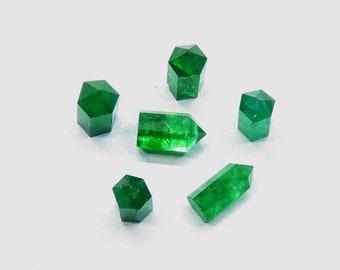 AAA Natural Raw Emerald Crystal Point May Birthstone Emerald BeryL Gemstones Polisshed Raw Crystals,Rocks,Per Piece Price