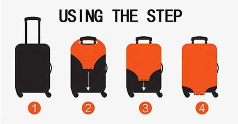 Unicorn Luggage Cover,Travel Gift,Personalized Gift,Suitcase Cover,Luggage Covers,Luggage Protection