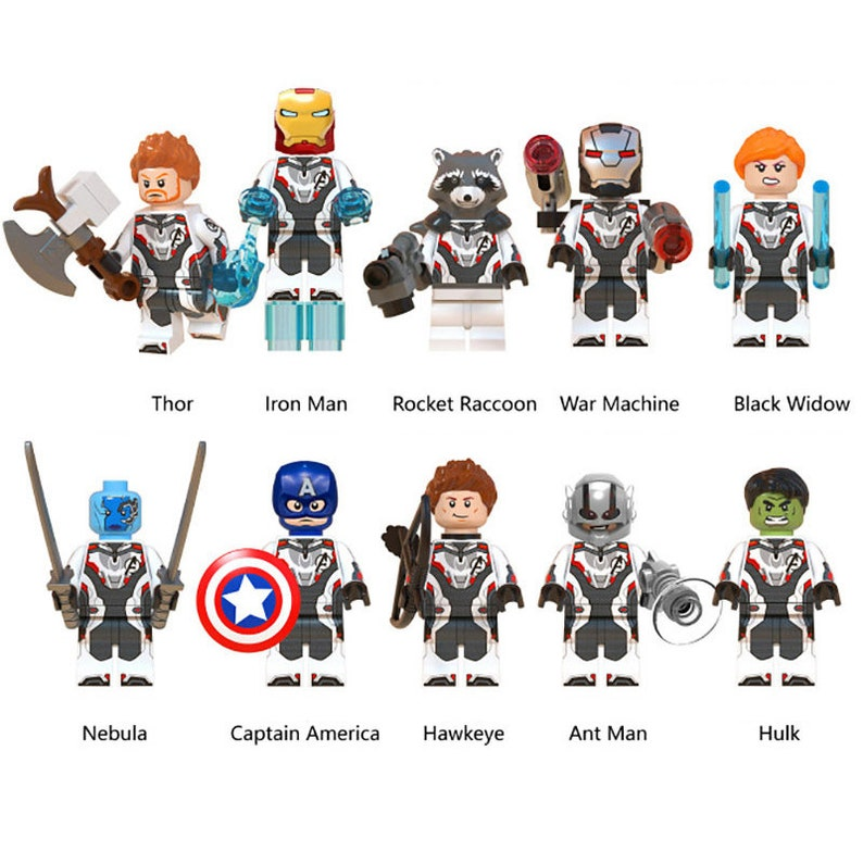 Cake Toppers Avengers 6 Figures Set End Game Iron Man War Machine UK Seller