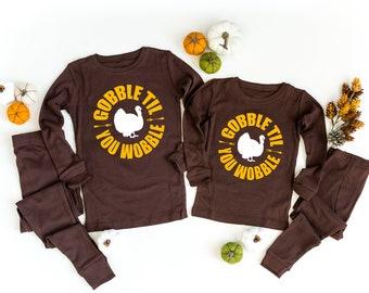 Haase Unlimited Lil Gobbler Turkey Thanksgiving Kids Pajama Set