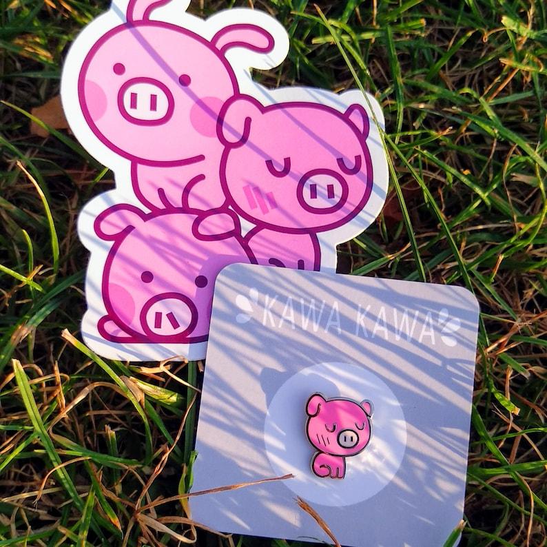Pig Pin Kawaii image 0