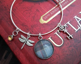 Outlander Inspired, Fraser Tartan, Charm Bracelet, Tartan Jewelry, Tartan Bracelet, Scottish Tartan