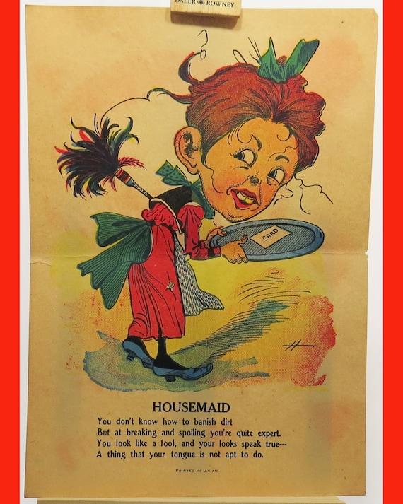 Vinegar comic Valentine 1900 A Flirt McLoughlin Brothers Printing