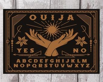 ouija board, metal sign, ouija, goth, occult,