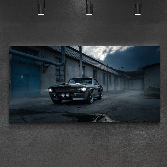 1967 Shelby Gt500 Eleanor >> Vintage Ford Mustang 1967 Shelby Gt500 Eleanor On Canvas Trendy Wall Art Bedroom Wall Art Gallery Wall Set Wall Decor Home Decor