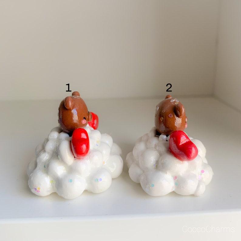 Cloud Figurine with Brown Bear