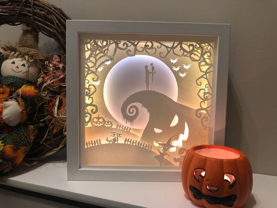 Nightmare Before Christmas Halloween 3d Paper Cut Template Etsy