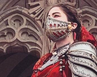 BallRoom Medieval Visor Face Cover