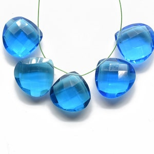 AAA Natürlich Blau Aquamarin 3 Teile Herz Form Facettiert Lose Edelstein 6x6MM