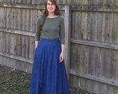 Evelyn Style Skirt, Long Denim Skirt for Women, Denim Maxi Skirt with Pocket, High Waisted Skirt, Aline Jean Skirt, Full Modest Denim Skirt
