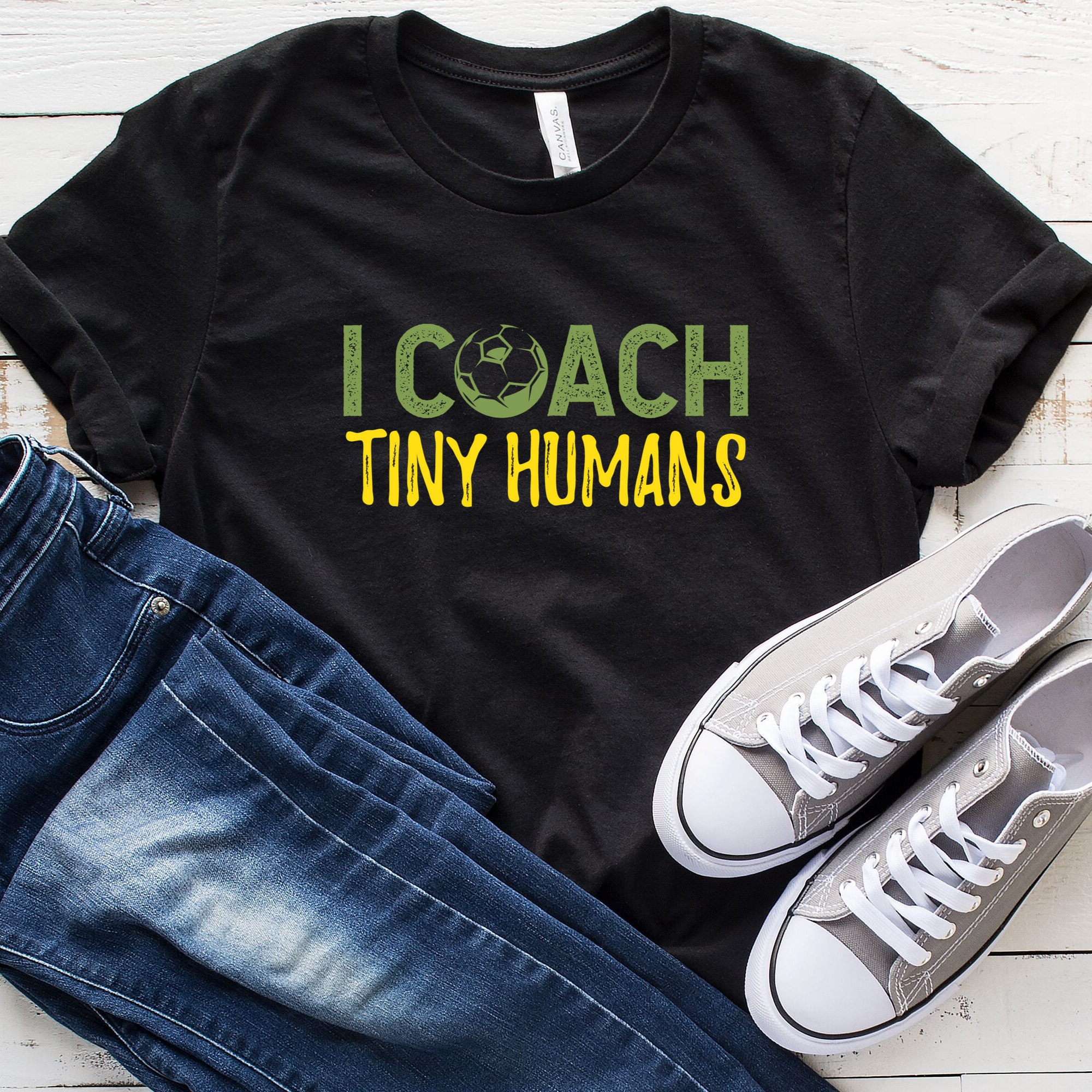 I Coach Tiny Humans T-shirt Soccer Mom Shirt Sports Mom Shirt Soccer Coach Shirt Funny Soccer Shirt Team Mom Gift Coach Gift Unisex Tshirt