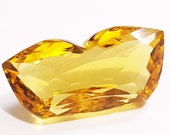 35.00 Carat Glorious Fancy Shape Yellow Citrine Loose Gemstone For Pendent Use Excellent Cut