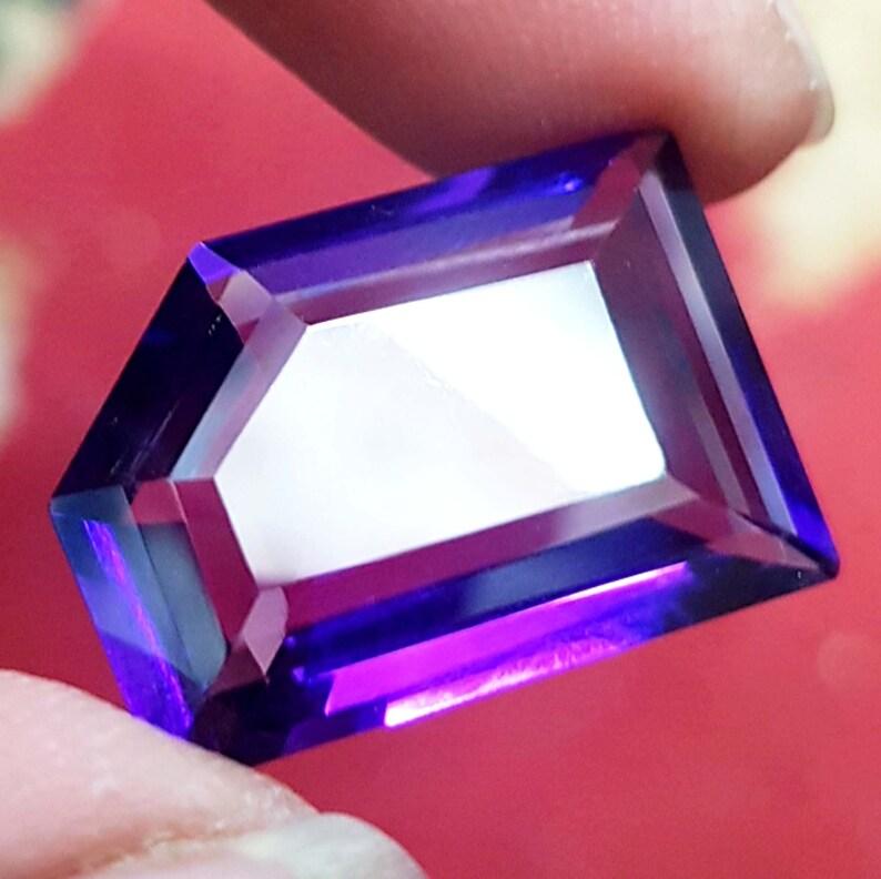 Certified Natural 15.70 Ct Beautiful Purple Amethyst Fancy shape VVS Eye Clean Loose Stone Vivid Purple Loose Gemstone February Birthstone