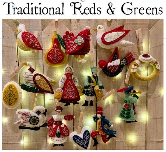Twelve Days of Christmas felt ornament Day 2 Turtledove