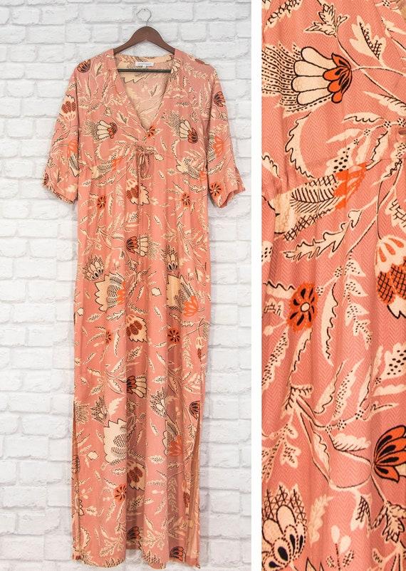 Second Female Fresco Maxi Scandinavian Dress Flora