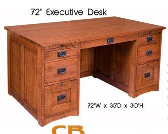 Strange Executive Desk Etsy Download Free Architecture Designs Fluibritishbridgeorg