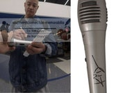 Kid N Play Christopher Kid Reid Rapper Signed Autographed Microphone Mic with Exact Proof Photo of Signing and COA - 1990s Vintage Rap