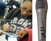 Holly Robinson Peete Signed Autographed Microphone with 39 Diana Ross 39 Inscription and Exact Proof Photo of Signing - COA - Mic