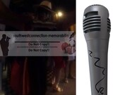 LaToya Jackson Signed Autographed Microphone Mic with Exact Proof Photo of SIgning and COA