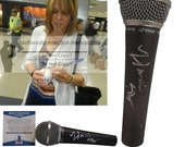 Hannah Storm ESPN Sportscenter Nbc NBA Signed Autographed Microphone Mic Proof Photo and Beckett BAS Authentication