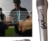 Patrick Pat Monahan Train Signed Autographed Microphone Proof Drops of Jupiter