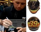 Ryan Newman Nascar Sprint Cup Signed Autographed Tornados Mini Helmet Proof COA