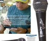 Kevin Nealon SNL Comedian Happy Gilmore Signed Autographed Microphone Mic Proof Photo and Beckett BAS Authentication Cert