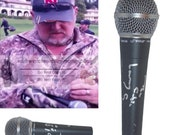 Larry The Cable Guy Comedian Signed Autographed Microphone Mic with Exact Proof Photo of Signing and COA - Cars Mater - Redneck Comedy Tour