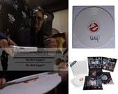 Dan Aykroyd Signed Autographed Ghostbusters LP Record Album Stay Puft Collectors Set with Exact Proof Photo of Signing and COA
