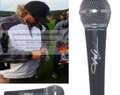 Toby Keith Country Music Signed Autographed Microphone Mic Proof Red Solo Cup