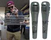 Rapper Vanilla Ice Signed Autographed Microphone WTYM Inscription Mic Proof COA