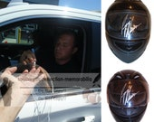 Ryan Newman Signed Autographed Full Size Racing Helmet with Exact Proof Photo of Signing and COA - Nascar Racing Superstar