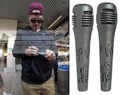 Vanilla Ice Signed Autographed Microphone YO VIP Inscription Rapper Mic Proof
