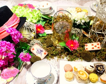 Classic Mad Hatter Tea Party Bridal Shower Decor Kit