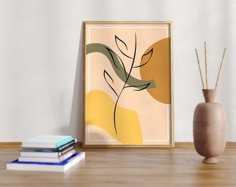Minimalistic Boho Vibe Wall Art Digital Print   Instant Download   Earth Tones Wall Art
