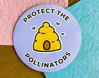 Protect the Pollinators Sticker   Water bottle or Laptop Sticker