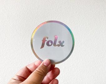 Folx Holographic Sticker   Laptop or water bottle sticker