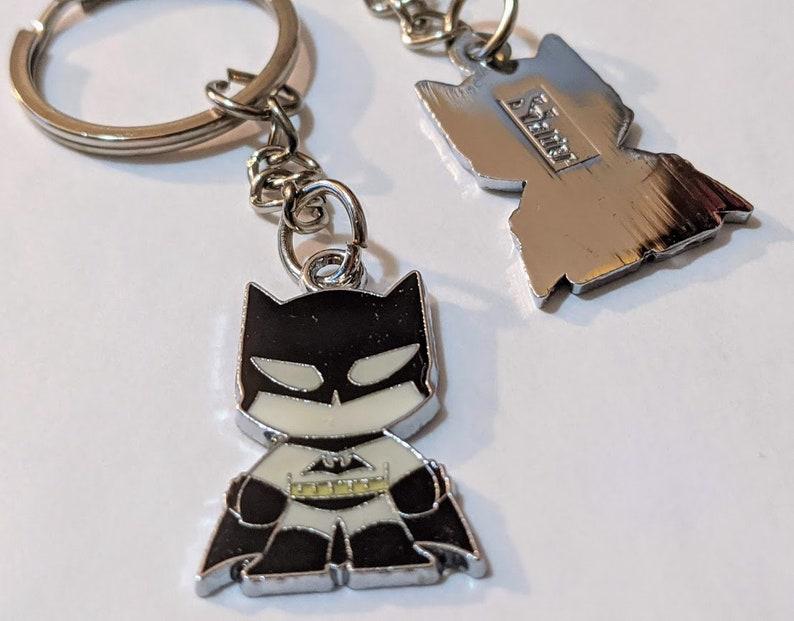 DC COMICS  Batman  Keychain Scottie Young style Arkham City Asylum Joker key chain Movie Full metal Justice league movie Harley Quinn