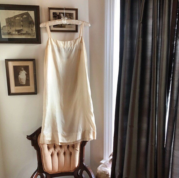 1930s 100% Silk Sheer Slip