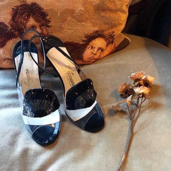 Rare 1950s Lucite Heels
