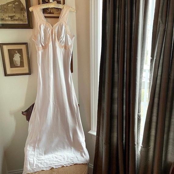 1950s Powder Blue Rayon Nightgown