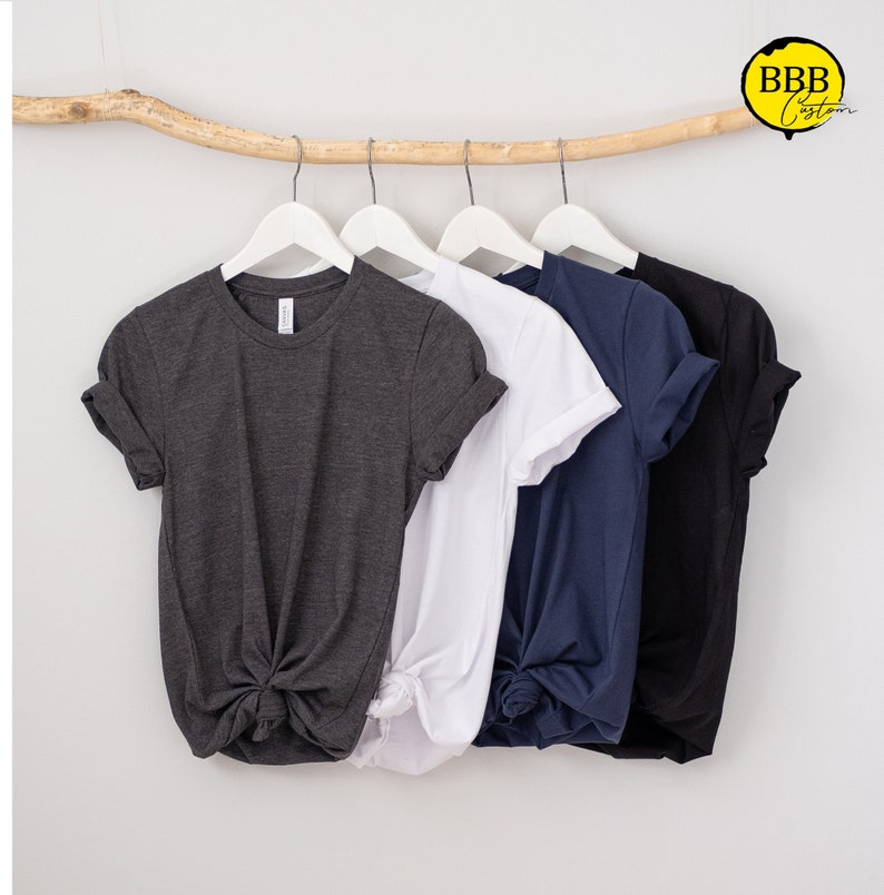Plain Short Sleeve T-shirts Blank T-Shirt For DIY project image 0