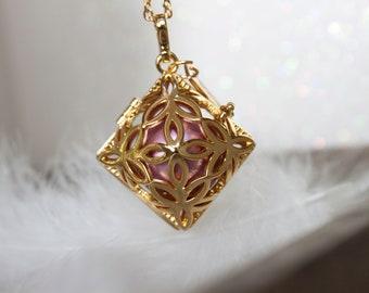 Rose Gold Diamond Angel Caller
