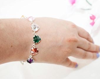Hearts of the 7 Archangels Crystal bracelet
