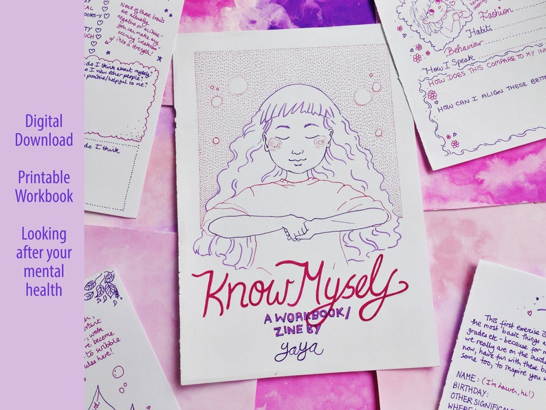 Mental Health Workbook  'Know Myself'  Self-Care for image 0