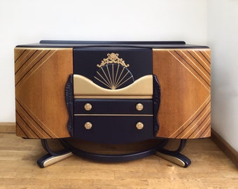 SOLD SOLD SOLD Upcycled Furniture Art Deco Cocktail Bar Drinks Cabinet Sideboard (Please Do Not Buy)