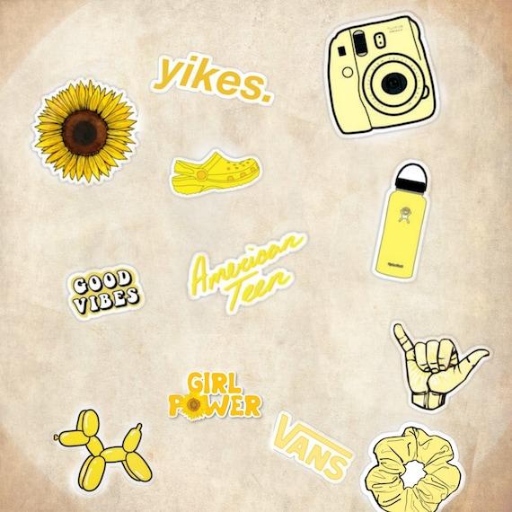 Yellow VSCO Sticker Pack (12)