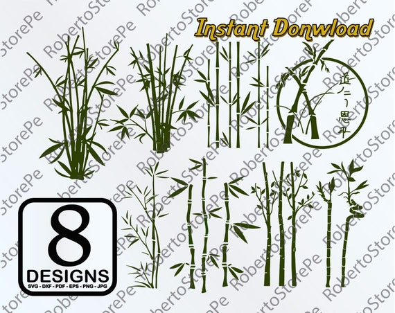 vector bamboo svg bamboo svg bamboo silhouette bamboo dxf etsy etsy